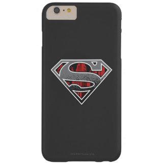 Logotipo gris y ciudad roja funda para iPhone 6 plus barely there
