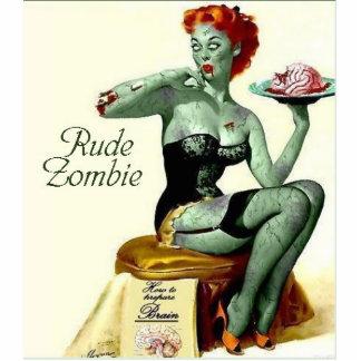 Logotipo grosero 6 del zombi fotoescultura vertical