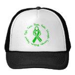 Logotipo hepático de la esperanza de la curación d gorro de camionero