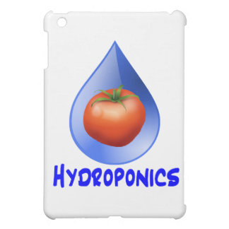 Logotipo hidropónico del diseño del descenso del a