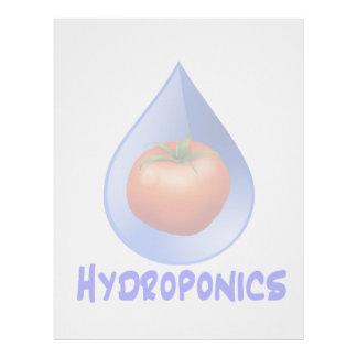 Logotipo hidropónico del diseño del descenso del a membrete personalizado