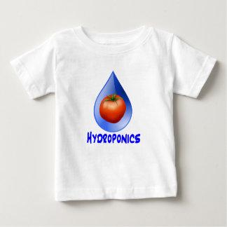 Logotipo hidropónico del diseño del descenso del playeras