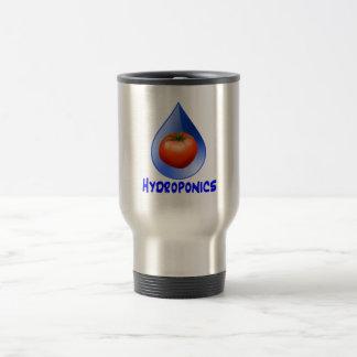 Logotipo hidropónico del diseño del descenso del taza térmica