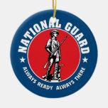 Logotipo histórico del Guardia Nacional del Adorno Navideño Redondo De Cerámica