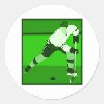 Logotipo - hockey sobre hielo verde etiqueta redonda