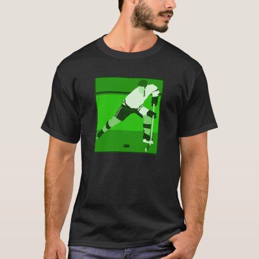 Logotipo - hockey sobre hielo verde playera