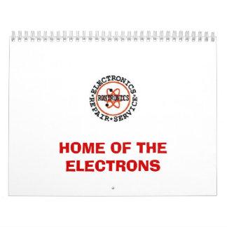 logotipo, HOGAR DE LOS ELECTRONES Calendario