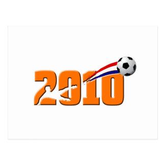 Logotipo holandés 2010 del fútbol postales