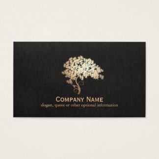 Logotipo holístico y natural del árbol del zen del tarjetas de visita