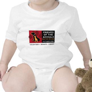 LOGOTIPO HORIZONTAL de FOTA Baton Rouge en FRENTE Trajes De Bebé