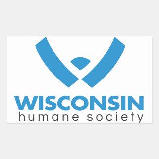 Logotipo humano 2015 de la sociedad de Wisconsin Pegatina Rectangular