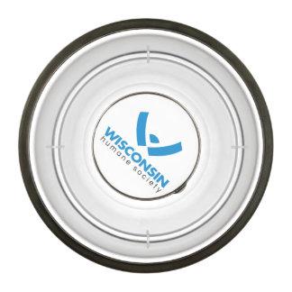 Logotipo humano 2015 de la sociedad de Wisconsin Cuenco Para Mascotas