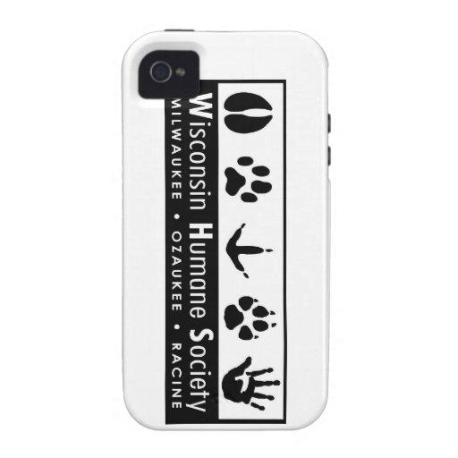 Logotipo humano de la sociedad de Wisconsin Case-Mate iPhone 4 Carcasas