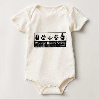 Logotipo humano de la sociedad de Wisconsin Mamelucos De Bebé