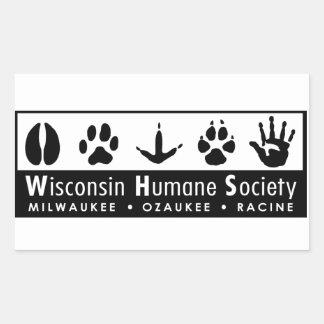 Logotipo humano de la sociedad de Wisconsin Pegatina Rectangular