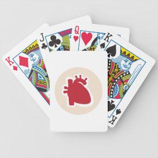 Logotipo humano rojo del cardiólogo o del corazón  baraja