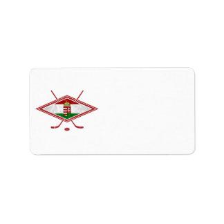 Logotipo húngaro del hockey del Magyar Etiquetas De Dirección