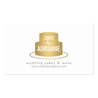 Logotipo I de la torta del oro para la panadería,  Tarjetas De Visita