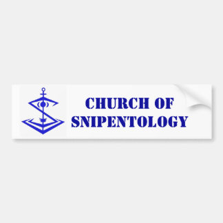 logotipo, iglesia de Snipentology Pegatina Para Auto