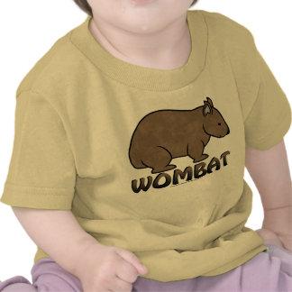 Logotipo II de Wombat Camiseta