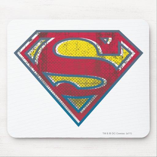 Logotipo impreso el   del S-Escudo del superhombre Alfombrilla De Raton