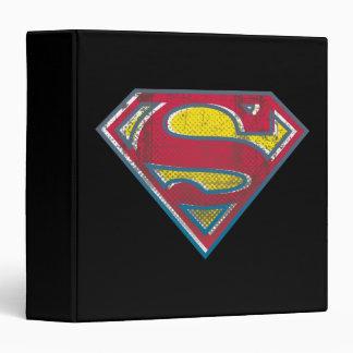 """Logotipo impreso el   del S-Escudo del superhombre Carpeta 1 1/2"""""""