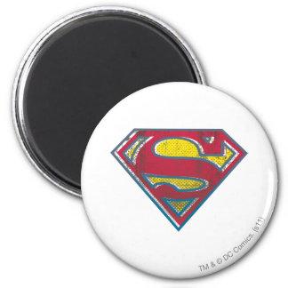Logotipo impreso el   del S-Escudo del superhombre Imán Redondo 5 Cm