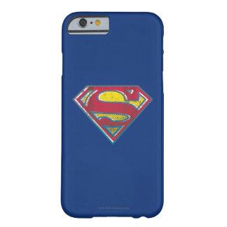 Logotipo impreso superhombre funda de iPhone 6 barely there
