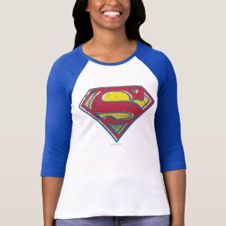 Logotipo impreso superhombre remera