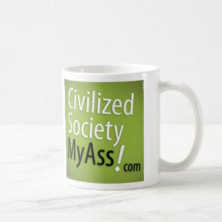 Logotipo inclinable en verde tazas de café