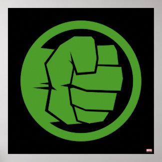 Logotipo increíble del armatoste póster