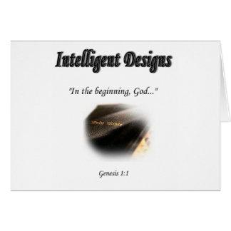 Logotipo inteligente de los diseños tarjeta de felicitación