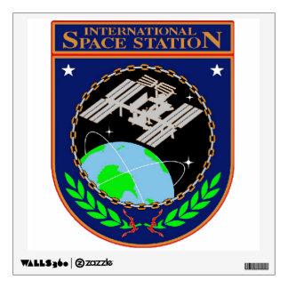 Logotipo internacional del programa de la estación vinilo decorativo