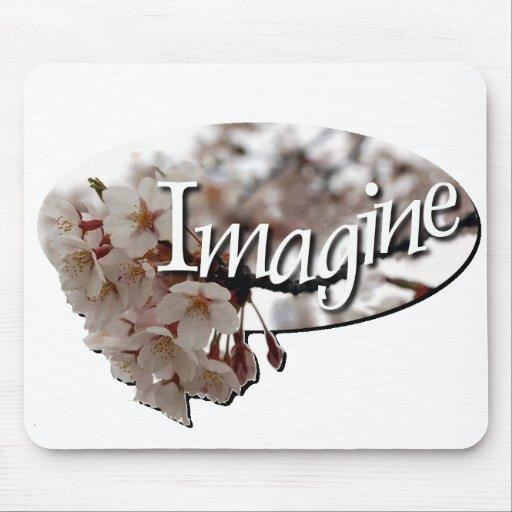 Logotipo interno de la flor de cerezo del ganchill tapete de raton