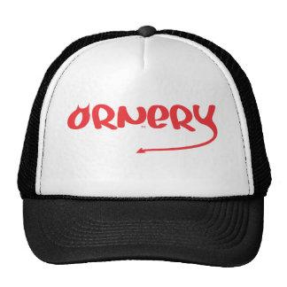 Logotipo intratable en rojo gorra