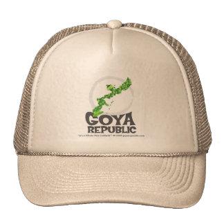 Logotipo intrépido de la república de Goya Gorras