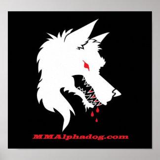 logotipo inverso póster