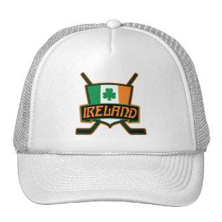 Logotipo irlandés de la bandera del hockey sobre gorros bordados