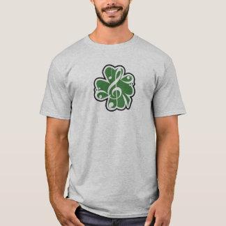Logotipo irlandés de la música playera