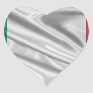 Logotipo italiano de la bandera pegatina en forma de corazón