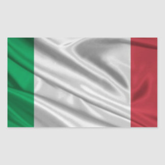 Logotipo italiano de la bandera pegatina rectangular
