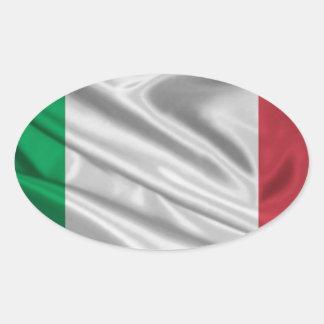 Logotipo italiano de la bandera calcomania de ovaladas