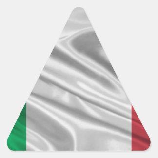 Logotipo italiano de la bandera pegatina triangular