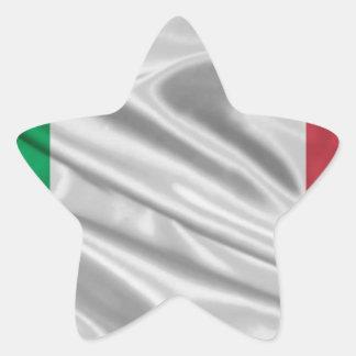 Logotipo italiano de la bandera pegatina en forma de estrella