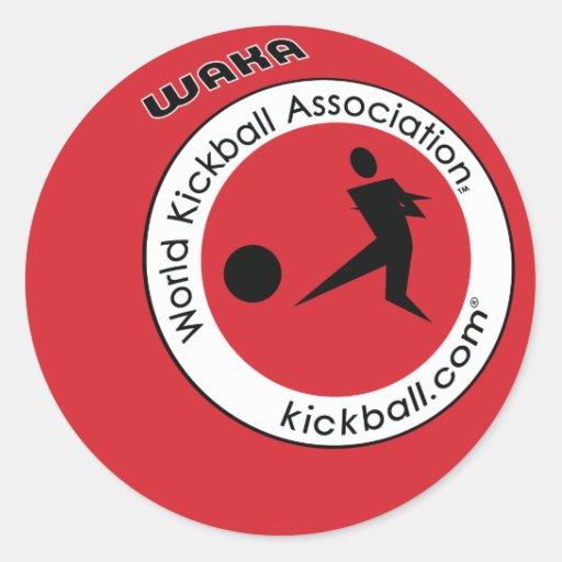Logotipo Kickball Etiquetas Redondas