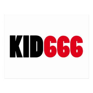 Logotipo KID666 Tarjetas Postales