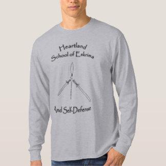 Logotipo largo de la escuela de la camiseta camisas