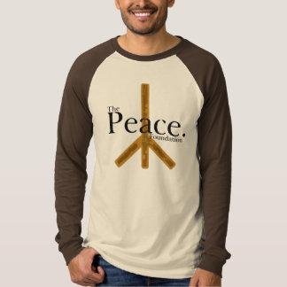 Logotipo largo de la paz de la manga de Brown Playera