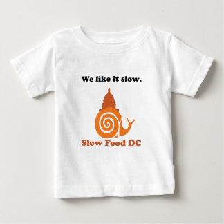 Logotipo lento de DC de la comida Playeras