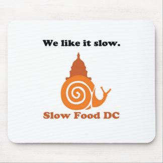 Logotipo lento de DC de la comida Tapete De Ratón